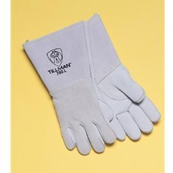 "Tillman TM 14"" Top Grain Elk Cotton/Foam Lined Left Hand Welders Glove - Large Pearl Gray - 750LL"