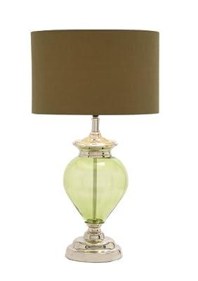 Benzara The Gorgeous Glass Chrome Table Lamp