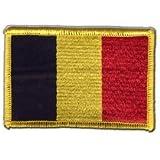 Écusson brodé Flag Patch Belgique - 8 x 6 cm
