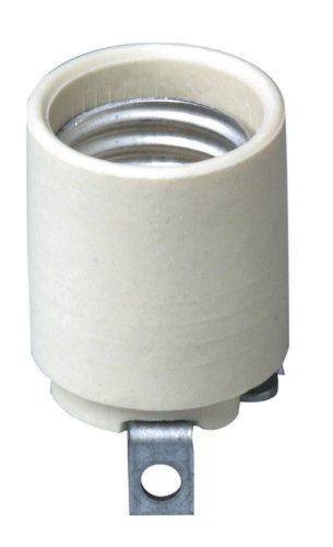 Images for Leviton 3152-8 Medium Base, One-Piece, Keyless, Incandescent, Unglazed Porcelain Lampholder
