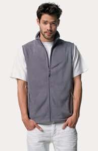 Jerzees Full Zip Fleece Gilet in Convoy Grey Size L