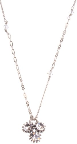 Pilgrim Silver Plated Crystal Drop Necklace