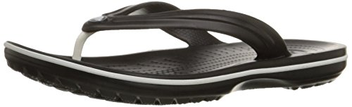 Crocs Unisex Crocband Flip-Flop,Black,7 US Men / 9 US Women