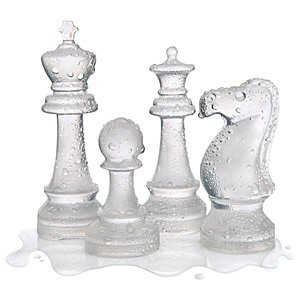 Ice Speed Chess Set, Chess Piece Ice Cube Mold Tray (Set of 2 Molds)