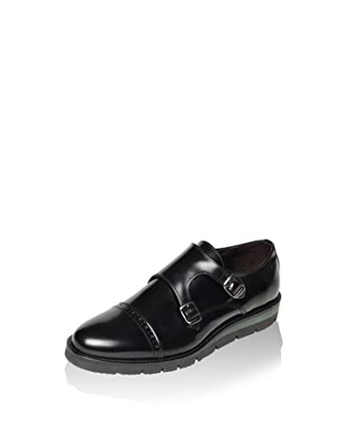 BRITISH PASSPORT Zapatos Monkstrap Toe Cap Negro