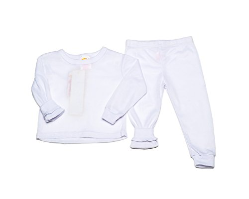 Girls Thermal Underwear Set (14/16, White) (Thermal Girls compare prices)