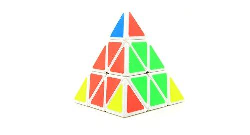 Shengshou Pyraminx Magic Cube Iq Toy (White)-98*98*98Mm, White - (Premium Quality)