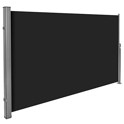 tectake auvent store lat ral brise vue abri soleil aluminium r tractable 200x300cm noir les. Black Bedroom Furniture Sets. Home Design Ideas