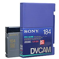 Sony PDV-184ME DVCAM Metal Evaporated Component Digital Video Tapes With IC Memory Chip