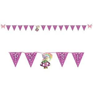 Fancy Fairy Happy Birthday Shaped Ribbon Banner by Creative Converting