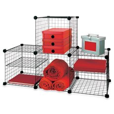 Grid Wire Modular Shelving and Storage Cubes (Shelving Modular compare prices)