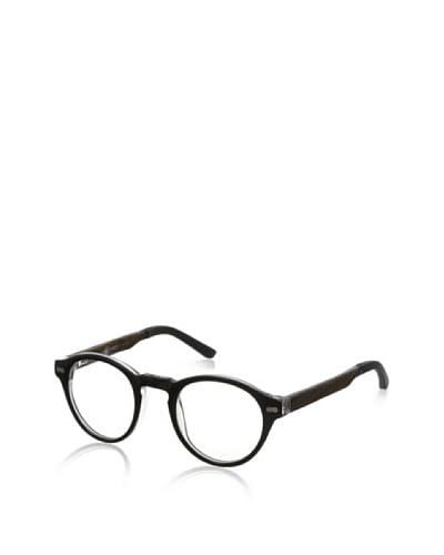 Ivory + Mason Men's Robertson Eyeglasses, Black Crystal/Walnut