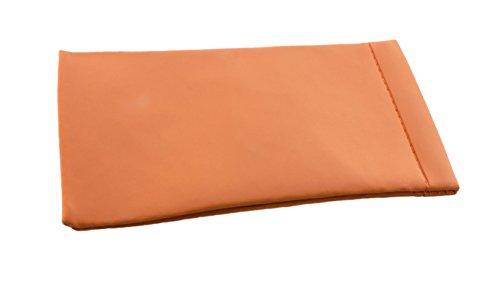 Astuccio tascabile per occhiali - Astuccio tascabile con o senza chiusura a scatto in diversi colori e versioni (astuccio in pelle con chiusura, arancione)