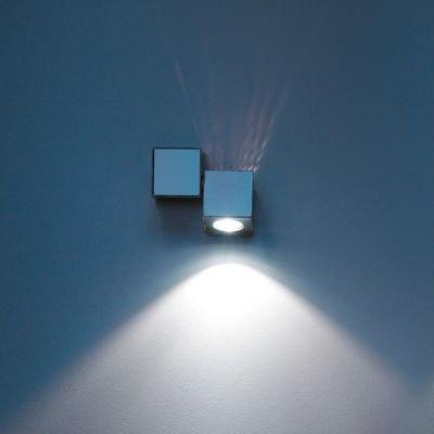 Equal Mini Decken-/Wandleuchte inkl. LED 6000K tageslicht schwarz glänzend
