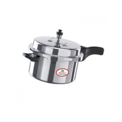 Bajaj Majesty Aluminium PCX 3 Outer Lid Pressure Cooker, 3 Litres, Silver