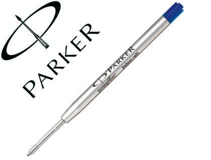 Parker - Quink: Boite de 12 Recharges Bille Bleu Pointe Fine