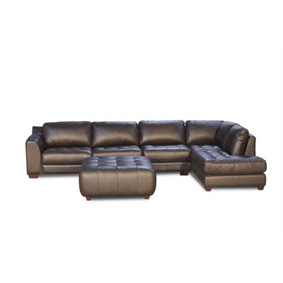 Zen Collection Right Facing Chaise 2PC Sectional with Armless Chair and Square Cocktail Ottoman by Diamond Sofa
