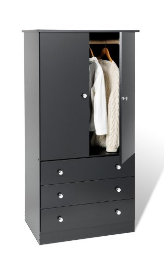 Tall Narrow Dresser Bedroom Wardrobe Closet Black From Prepac