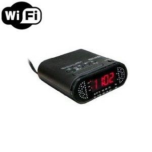 Spy Camera with WiFi Digital IP Signal, Recording & Remote Internet Access, Camera Hidden in a Clock Radio