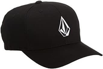 Volcom Men's Full Stone Flexfit Hat, Black, Small/Medium