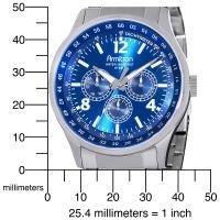 Unisex Armitron 204676BLSVMns Analog Sport Stainless Steel Blue dial/luminous WR
