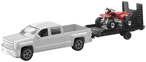 Chevrolet Silverado Pick up w/ Bike or ATV - 1:43 - 3 Assorted Styles (Motorcycle Toy Trailer compare prices)