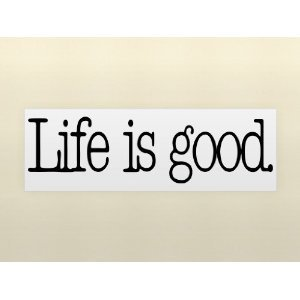 life is good vinyl wall lettering stickers ForLife Is Good Home Decor