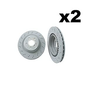 Mercedes W230 SL55 SL65 Disc Brake Rotor Rear Set of 2 GENUINE Brand NEW