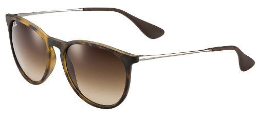 Ray Ban Erika Sunglasses RB4171 865/13 54-18 Tortoise/Gunmetal Frame Brown Gradient Lenses