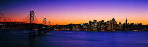 Wallmonkeys San Francisco Skyline 2 Panoramic Wall Decals front-1057264