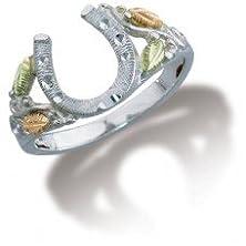 buy Black Hills Gold On Sterling Silver Horseshoe Ring From Landstroms - Ring Size 8