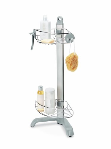 simplehuman Corner Shower Caddy, Brushed Stainless Steel