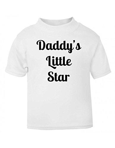 Daddy' s Little Star Cute soprannome Twinkle Twinkle Bambini T Shirt per Bambini Taglie per bambini Top bianco White 5-6 anni
