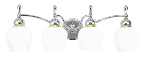 bathroom vanity lights grand  moen 18012