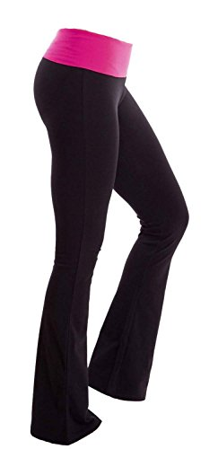 fdfc89212ce5d4 Viosi Women s Premium 250mg Fold Over Cotton Spandex Lounge Yoga Pants