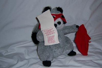 "Hallmark Wanted Plush Racoon Burgular - 10"""