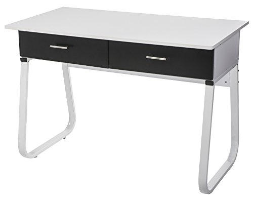 【Lowest Price FIRE SALE】Merax Solid CARB Board Home and Office Computer Writing Desk Table ,Office Desk with Drawers ,White (Sales Board compare prices)
