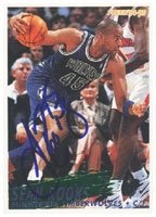 Sean Rooks Minnesota Timberwolves 1995 Fleer Autographed Hand Signed Trading Card -... by Hall+of+Fame+Memorabilia