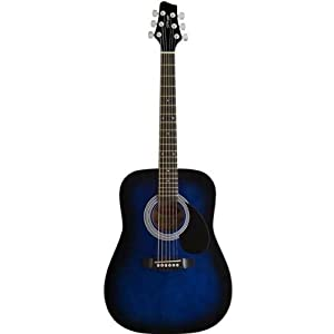 Stagg SW201 3/4 BLS 3/4 Dreadnought Acoustic Guitar - Blue Burst