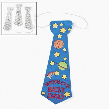 Color Your Own Father's Day Tie