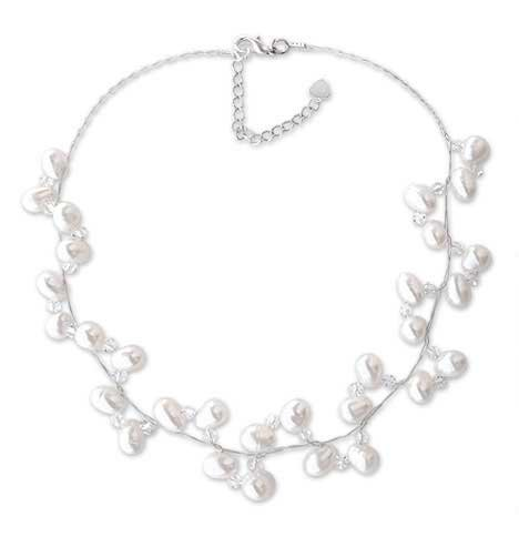 Pearl and crystal choker, 'Spiral'