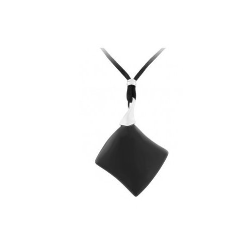 Black Onix with Cord Fashion Necklace 19