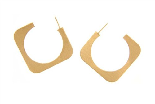 18kt Gold Plated Open Hoops