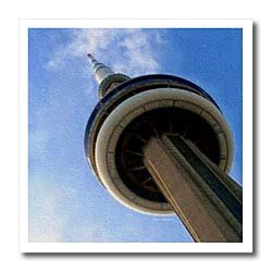 CN Tower Tronto Ontario Canada - 6x6 Iron On Heat Transfer For White Material
