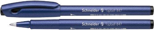 Schneider Topball 847 - Bolígrafo de tinta gel (0.5 mm, paquete de 10)