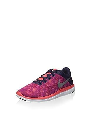 Nike Zapatillas Flex 2016 Rn Print (Gs) (Berenjena / Naranja)