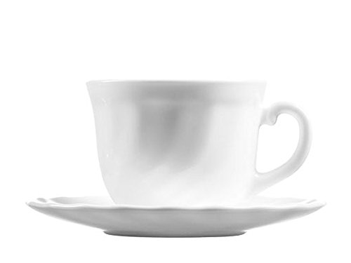 Luminarc 22Cl Set Of 6 Trianon Cup & Saucer (Luminarc Coffee Cup compare prices)