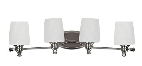 Popular The Features Chloe Lighting CH BN BL Transitional Light Brushed Nickel Bath Vanity Wall Fixture with Inch Wide Alabaster Glass