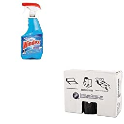 KITDRA90135EAIBSS386022K - Value Kit - Inteplast Group Commercial Can Liners (IBSS386022K) and Windex Powerized Glass Cleaner with Ammonia-D (DRA90135EA)