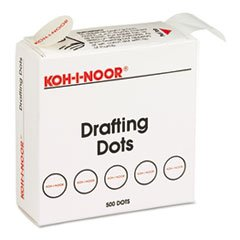 adhesive-drafting-dots-w-dispenser-7-8in-dia-white-500-box-sold-as-one-box